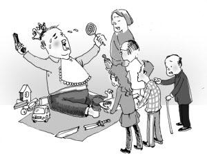 畸形的中国教育: 幼儿园的,在忙着学小学的知识;初中生,在忙学高中的知识;高中生,在忙着学大学生的知识。 而大学生,却需要回头来学幼儿园的知识。