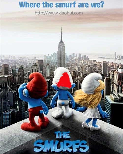 配图: 蓝精灵, 3d 蓝精灵, The Smurfs