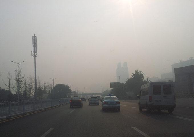 图片: 空气质量为严重污染级别的长沙