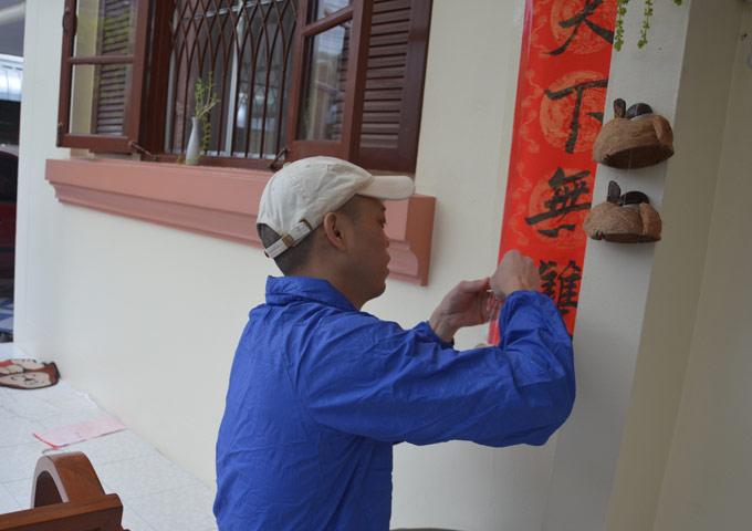 图片: 泰国清迈贴春联