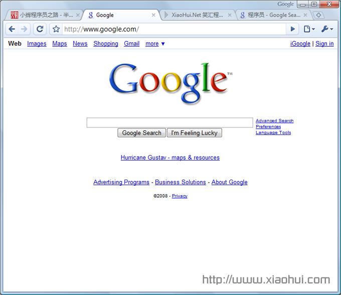 igoogle chrome 运行界面