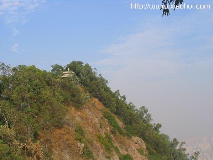 深圳南山: 陡峭的半山亭